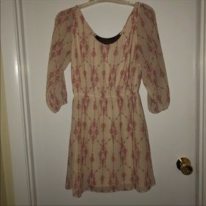 Charlotte Russe pilgrim dress w attached necklace
